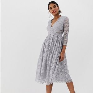 ASOS long sleeve lace dress size 4